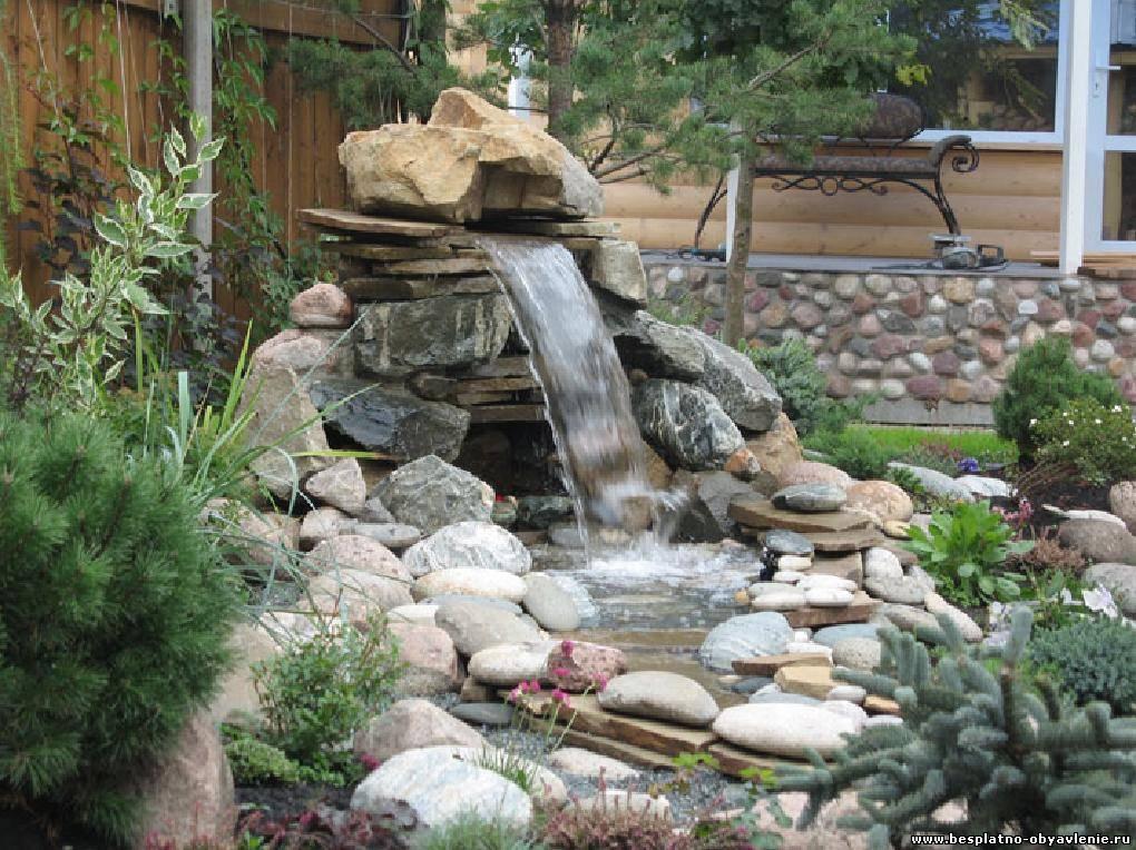 Фонтаны из камня для сада