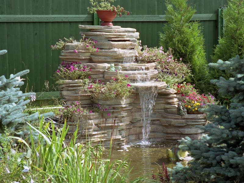 Искусственные декоративные водопады из камня. Строительство водопадов на заказ - Каменный Двор