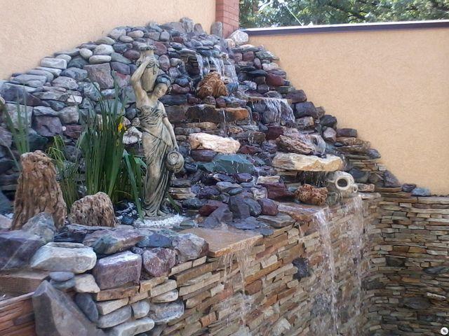 Фонтан водопад из камня своими руками 256